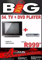 Audio Corp: Brand New 54cm TV With Dvd/usb Player