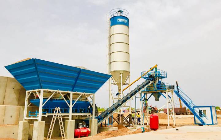 Promax-Star COMPACT  Concrete Batching Plant C45-SNG   45 m3/h