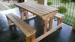 Excellent quality wooden picnic benches