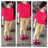 chiffon top & jeggins (kiddies)