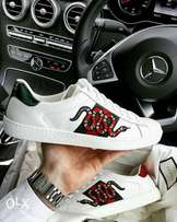 Gucci snake unisex sneakers / white