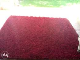 Red shaggy carpet