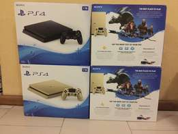 PS4 slim Gold color and PS4 1TB with Uncharted4 CD
