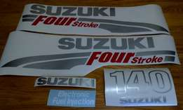 Suzuki DF 140 horse power motor cowl graphics decal set