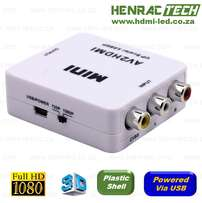 AV to HDMI mini Converter and Upscaler (720 or 1080p)