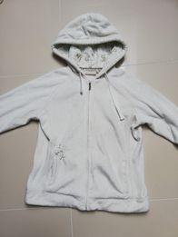 f0435622813dfe Ciepła bluza, pluszak, pluszowa J.Etam r. M/L , Biała