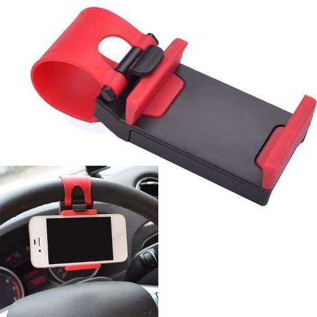 Car Steering Wheel Mobile Phone Holder Nairobi CBD - image 1