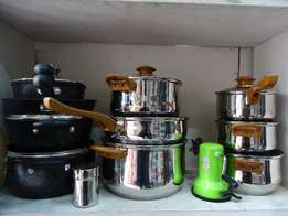 Cook and Serve stainless steel pots + CBD delivery