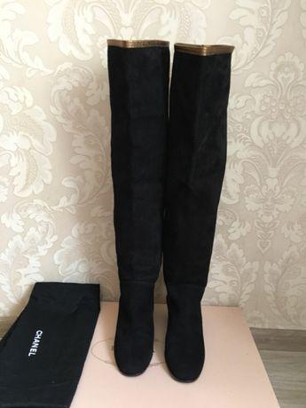 61f5c0ece832 Chanel оригинал высокие сапоги ботфорты черные замшевые Италия Киев -  изображение 3