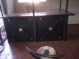 Bar and 4 Bar chairs for sale