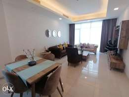 Modern Style 2 BR FF Apartment with Sea View in Juffair For Rent