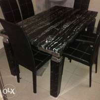 Quality marrble 998 leg by six with six chairs
