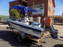 ace craft 14,6 on trailer 2 x 40 hp yamahas