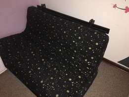 DOUBLE 2 sided futon mattress, with convertible wooden base. All orig