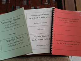 Music Books - Harmony, Form, History, Melody writing