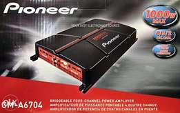 Pioneer 1000W GM A6704 4 Channel Bridgable amp with Bass boost.