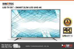"Sinotec 55"" - SMART SLIM UHD 4K TV - 5 Years Warranty"
