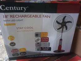 Century Rechargable Fan 18 inches with Remote