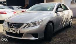 Toyota mark x silver new shape at