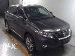 Foreign Used Grey Lexus 2010 RX, 450H Hybrid For Sale 3,600,000/=