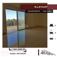 Apartment located in a calm area in Klayaat, 140 SQM. REF#NW56002