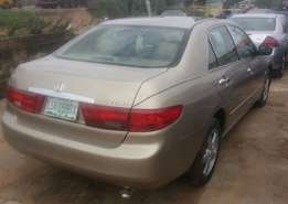 A slick, sharp used 2003 Honda Accord, ac chilling, cd, v4, leather,