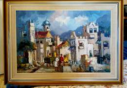 District Six original oil painting by artist Isabel le Roux