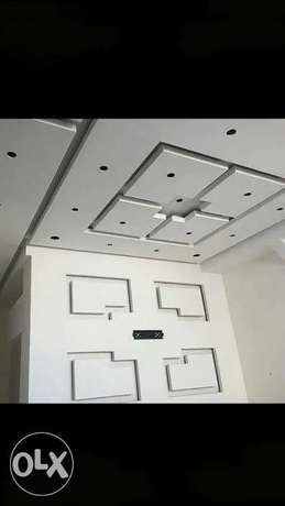 Gypsum board works and building maintanence work