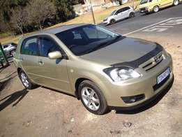 2007 toyota Runx 1.6RX gold colour with 82000km leather int R85000