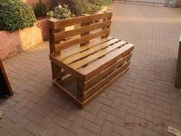 Hand Crafted Custom made pallet furniture