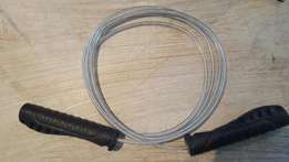 Cable skipping rope.