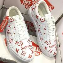 The new vans off the wall x lv supreme sneakers