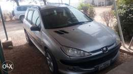 Registered Peugeot 206 wagon, 2002 model