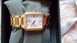 Ladies Gold Citizen Eco Drive Watch
