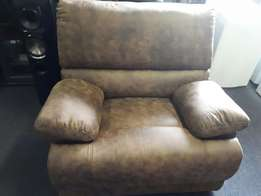 Suede Leather Recliner