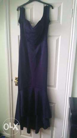 GORGEOUS Purple Large STRETCH Gown size 12-14 Wuse 2 - image 7