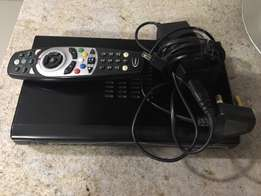 DSTV Explora decoder, remote and HD cable