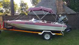 17ft Citation Bow rider with 140hp Suzuki Fuel & oil injected outboard