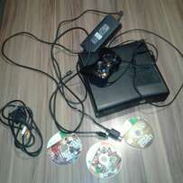 Xbox 360s with 8 games.