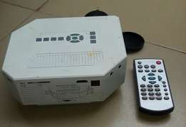 A fairly used LED portable projector for sale