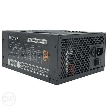 1800 Watts 90 Gold Plus PSU with 16 (6+2) connectors ah
