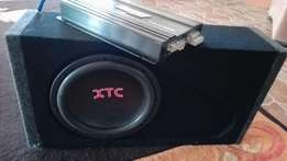 Targa TA-4900-4 amp with XTC Sub ( box included)