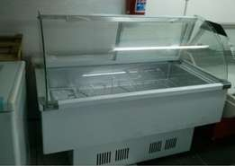 Caterking SA curved glass deli/meat display fridge