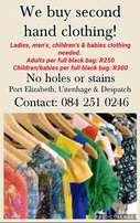Wanted: Childrens/babies clothing