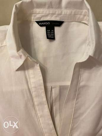 Mango and C&A white blouses for women