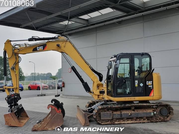 Caterpillar 308E 3 buckets - German dealer machine - 2012 - image 4