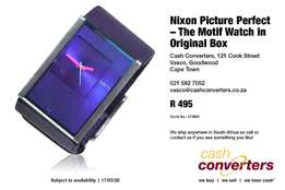 Nixon Picture Perfect – The Motif Watch in Original Box