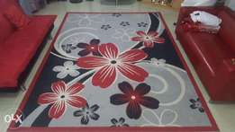 Red Floral Luxurious Carpet