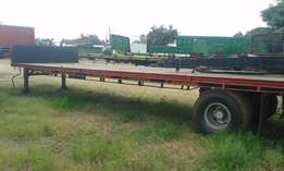 Single Axle Stepdeck Trailer. Good Condition
