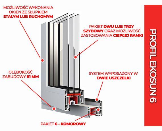 Bardzo dobra OKNA Okno PCV Aluplast 865 x 1435 Typowe Nietypowe Na Każdy Wymiar WJ13